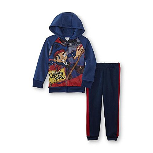 Disney Jake & the Never Land Pirates Toddler Boy's Hoodie&Pants Outfit 2T (Jake And Neverland Pirates Outfit)
