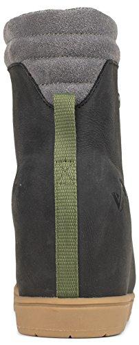 Leather Women's Wedge Alma Boot Resistant Forsake Water Black gvqEwW6