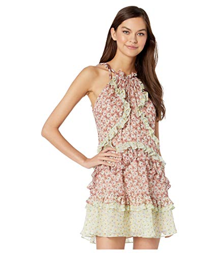 Rebecca Taylor Women's Sleeveless Lucia Tie Dress, Multi Combo, -
