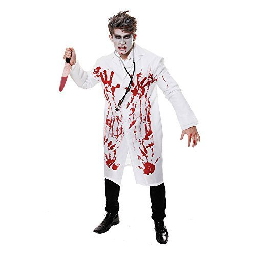 Doctor White Bloody Coat Fancy Dress Costume for Adults