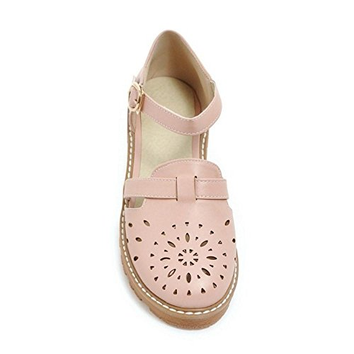 Sandals TAOFFEN Gladiator 33 Court Shoes Strap Shoes Flat Size Women's Pink D'Orsay Asian Ankle Cq5BSCU