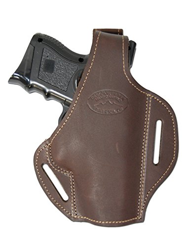 Barsony New Brown Leather Concealment Pancake Gun Holster CZ-75 Comp CZ-75D - Holster Concealment Pistol Pancake