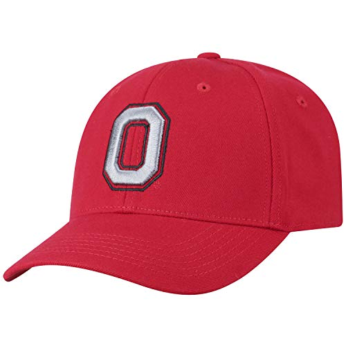 Top of the World NCAA-Premium Collection-One-Fit-Memory Fit-Hat Cap (Ohio State Buckeyes-Scarlet Leaf on Back, One Size Fits Most) (Ohio State Basketballs)