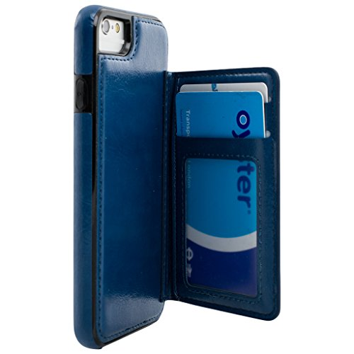 6s 6s Case Cover Quality Detachable Card 3 Apple iPhone cover function Multi Magnetic Wallet 2 iphone 1 Style Case Blue Slots Best Apple Wallet Designer 4w8Ittq