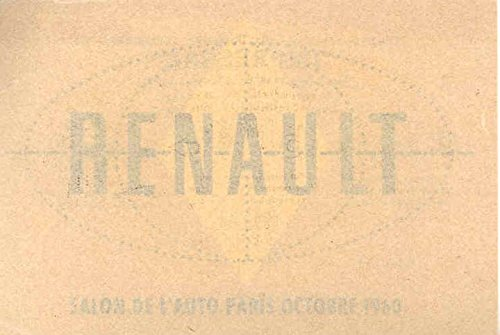 Review 1960 Renault Paris Auto