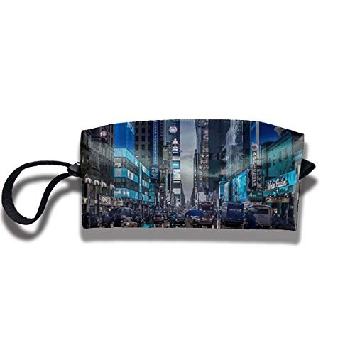 Travel Toiletry Pouch New York City Shaving Kit Make-up Bag with Handle,Portable Organizer Receive Cosmetic Storage Case for Women and Men ()