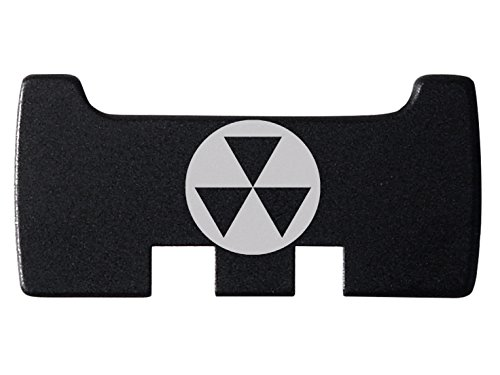NDZ Performance for Glock Rear Ambi Speed Slide Racker Plate MOS Optics Black for Gen 1-5 Most Models Laser Engraved Image: Fallout Shelter Symbol 1