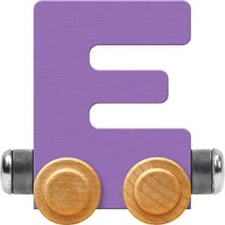 product image for Maple Landmark NameTrain Pastel Letter Car E - Made in USA (Lavender)