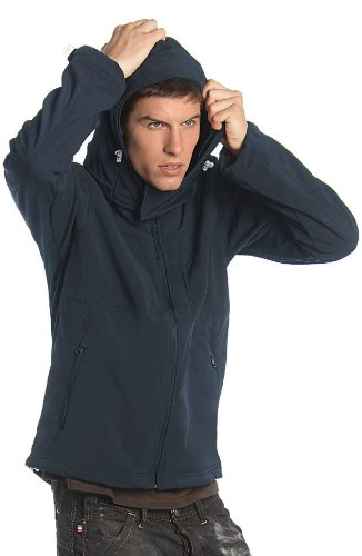 B&C - Hooded Softshell Men - Navy - L