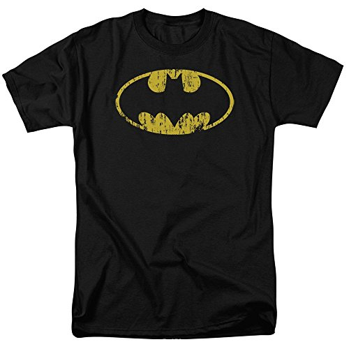 (Batman-Classic Logo Distressed T-Shirt Size XL)