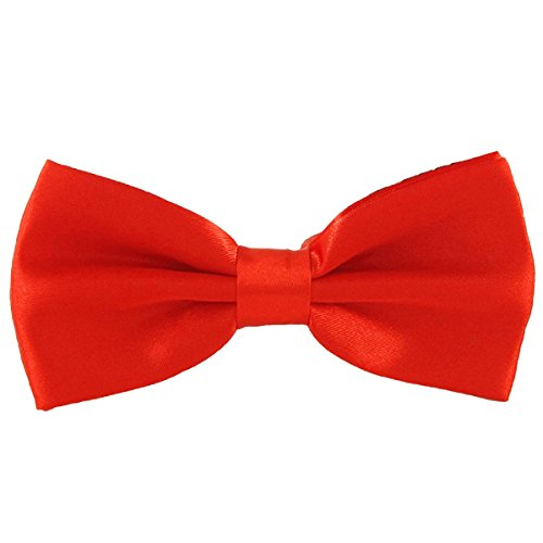 My Love My Friend Pet D1- Handmade Dog/cat Bow Tie for Medium & Large Pets (Free Attached Soft Fabric Collar) Double Layer Butterfly Design (Red)