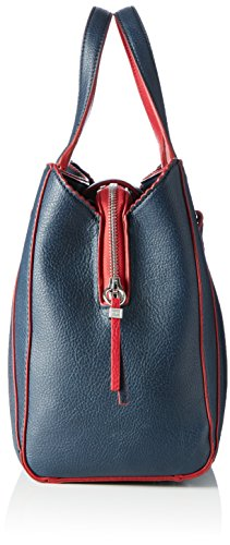 Tommy Hilfiger Fashion Novelty, Sacchetto Donna, Multicolore (Midnight / Scooter Red), 15x36x33 cm (b x h x t)