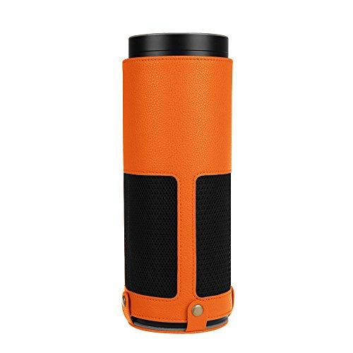 Fintie Protective Case for Amazon Echo (1st Generation) - Premium Vegan Leather Cover Sleeve Skins, Orange