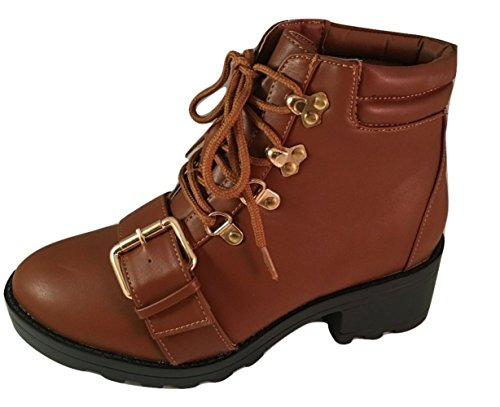 Bella Marie Blazer-11 Women's High Top Lace Up Combat Boot with Front - Laredo City Of Water