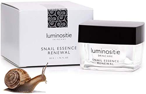 Snail Repair Cream - Effective Anti-Aging Korean Skin Care Moisturizer – All In One Recovery Snail Mucin Essence Cream – Collagen Boosting Gel (1.7 Oz)