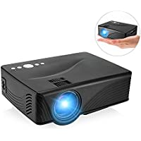 Mini Projector, GBTIGER GP-10 2000 Lumens LCD Home Projector Portable Multimedia Home Theater Movie Game Video Projector Up to 120 inch Image
