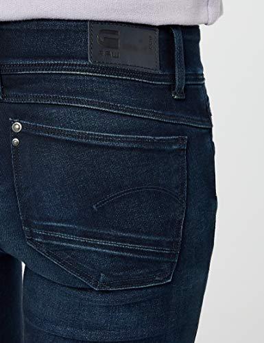 Mid Blu Aged Raw Superstretch Lynn Cerniera 60887 dk 89 6549 Donna star G Jeans Skinny Slander f4PqI1wx