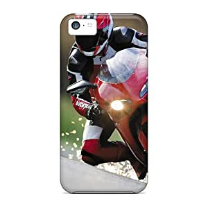 Bumper Hard Phone Case For Iphone 5c (Dzm12006tKtJ) Unique Design Fashion Motorcycles Motocross Pictures