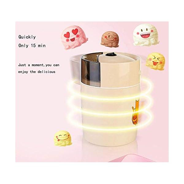 Macchina per Il Gelato elettrica Fai-da-Te congelata Yogurt e amp Sorbetto Macchina Mini Macchina Automatica per Gelati… 3 spesavip