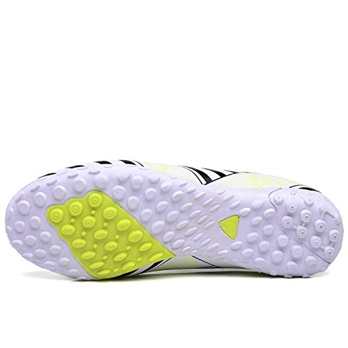 MOOKEY Football Shoes Men's Sport Soccer Shoes Training Leather New Young Low-Top Football Shoes White rrkKgR