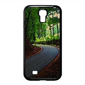 lintao diy Route in Forest Watercolor style Cover Samsung Galaxy S4 I9500 Case (Forests Watercolor style Cover Samsung Galaxy S4 I9500 Case)