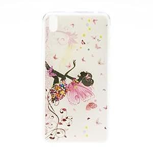 Kinston Butterfly Girl Pattern TPU Soft Case for HTC Desire 816