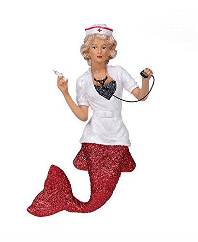 - December Diamonds Nurse Naughty Mermaid Christmas Tree Ornament 5555038 New