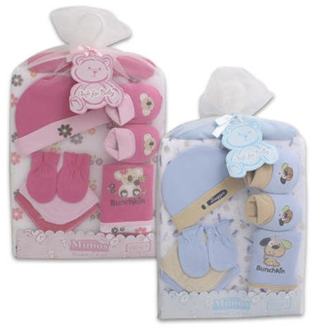 9 Pc Baby Blanket Washcloth Mittions Booties Set 24 pcs sku# 1458854MA by DDI