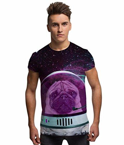All Over Print Sublimation Druck T Shirt Grafik Shirts Herren Astro Space Mops 3D T-Shirts