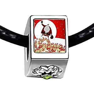Chicforest Silver Plated Happy Christmas Snowman Photo Peridot Crystal August Birthstone Flower Charm Beads Fits Pandora Bracelet
