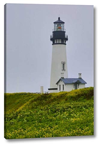 (USA, Oregon Yaquina Head Lighthouse on Foggy Day by Jean Carter - 7