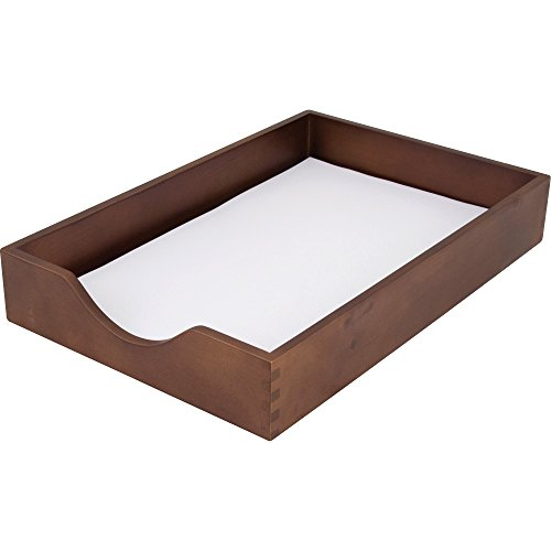 Carver Wood Products CW07222 Wood Desk Tray Legal Size Walnut ()