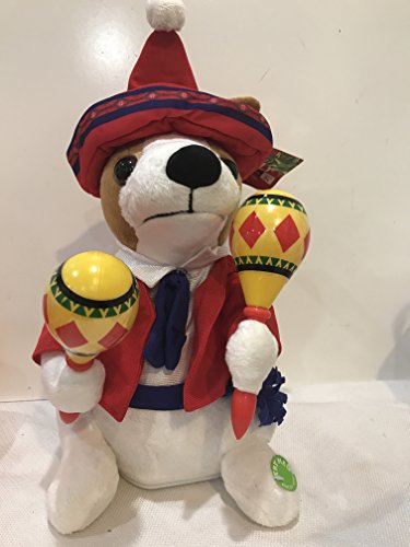 Santa Puppy (Christmas Mariachi Band Stuffed Puppy Dog with Maracas Singing