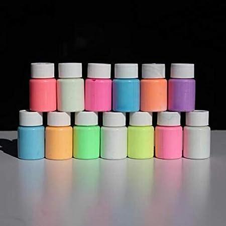 Opearancees 13 Farben DIY Top Eco ungiftig geruchsfrei Wasserdichte Graffiti Farbe Leuchtend Acryl Glow in The Dark Pigment Party Walls