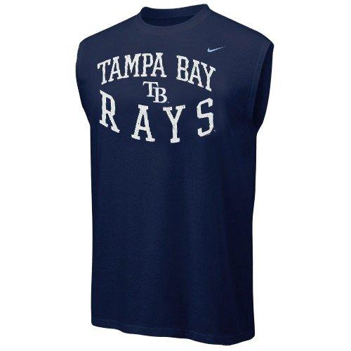 Nike Tampa Bay Rays Navy Blue Team Logo Sleeveless T-shirt (XX-Large)