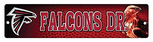 NFL Atlanta Falcons 16-Inch Plastic Street Sign Dcor