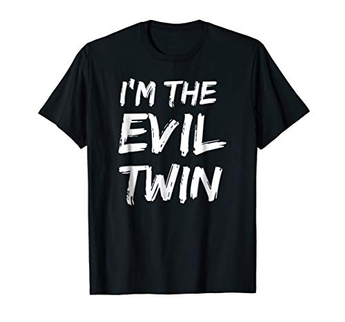 Mens Im The Evil Twin   Funny Halloween Horror Shirt Large Black ()