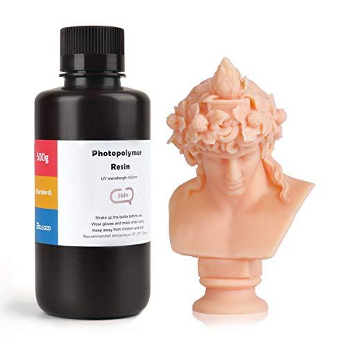 ELEGOO 3D Rapid Resin LCD UV-Curing Resin 405nm Standard Photopolymer Resin for LCD 3D Printing 500Gram Skin