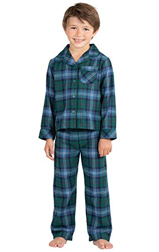 PajamaGram Heritage Plaid Button-Front Boys Pajamas 12