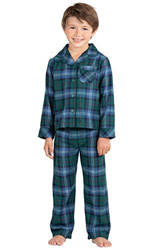 PajamaGram Heritage Plaid Button-Front Boys Pajamas