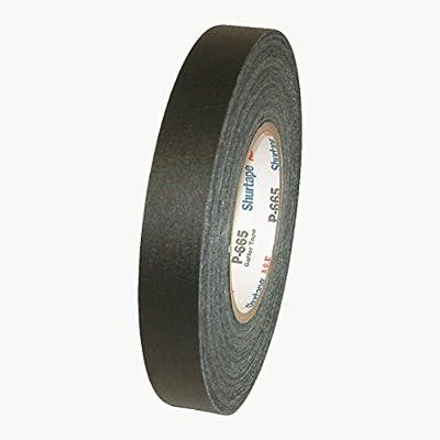 "Permacel Shurtape P-665 General Purpose Gaffers Tape 1/"" x 55 yds Black"