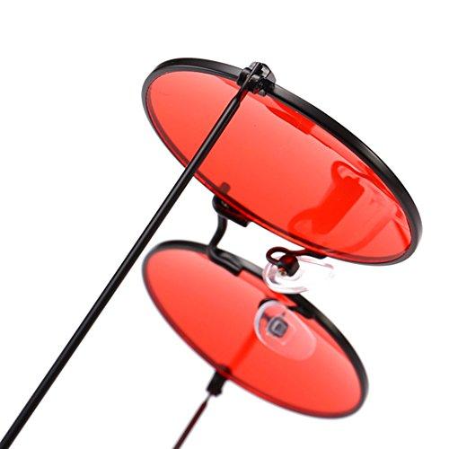Yanhonin Lunettes Retro Designer Rondes Luxe 5 Uv400 Cadre Marque Ocean Len Soleil De UTfrwqU