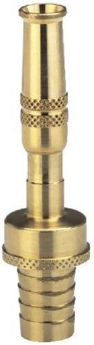 Gardena Komfort Messing-Spritze: Metall-Gartenspritze zum Anschluss an 19 mm (3/4 Zoll)-Schläuche, Wasserstrahl regulierbar und abstellbar (7166-20)