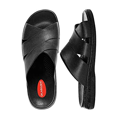 Okabashi Men's Milan Ergonomic Massaging Waterproof Sandal Shoes