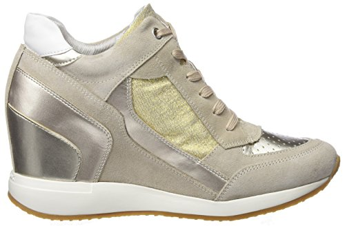 Geox Collo A Lt Alto Donna Lt D Taupe Beige a Gold Nydame Sneaker rX4rqwa