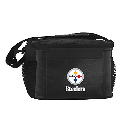 NFL Pittsburgh Steelers Insulated Lunch Cooler Bag with Zipper Closure, ()