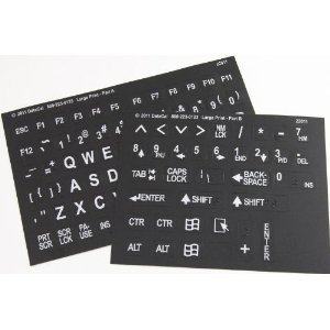 print english keyboard stickers labels