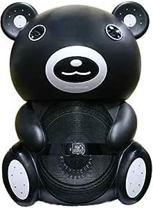 Zebra Bear Shape Speaker, Black - Sp-V6L