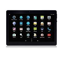 Dieniu Unlocked Pad 10 inch Octa Core 3G Tablet Android 6.0 with Dual SIM Card Slot 2GB RAM 32GB ROM Built-in WIFI Bluetooth GPS Netflix Youtube (Metallic Black)