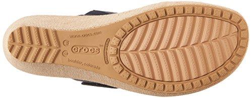 Crocs En Leigh 2-stropp Miniwedge Nautiske Navy / Chai